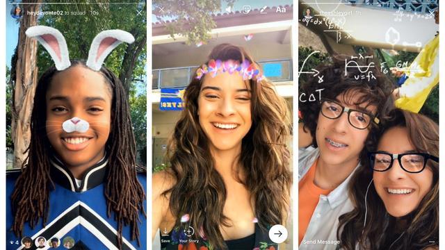Instagram voegt Snapchat-achtige gezichtsfilters toe