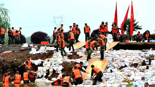 China lijdt zwaar onder noodweer