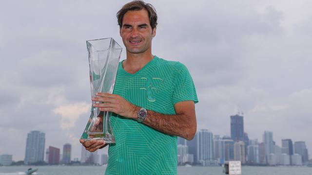 Federer klimt na toernooizege in Miami naar vierde plek wereldranglijst
