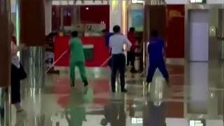 Indiaas vliegveld staat volledig blank na zware regenval