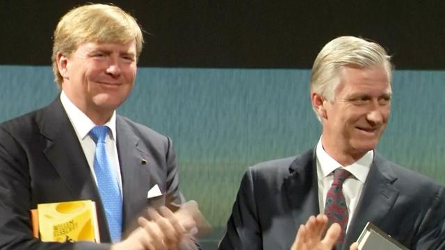 Koning Willem-Alexander opent 'Nederlandse' boekenbeurs in Frankfurt