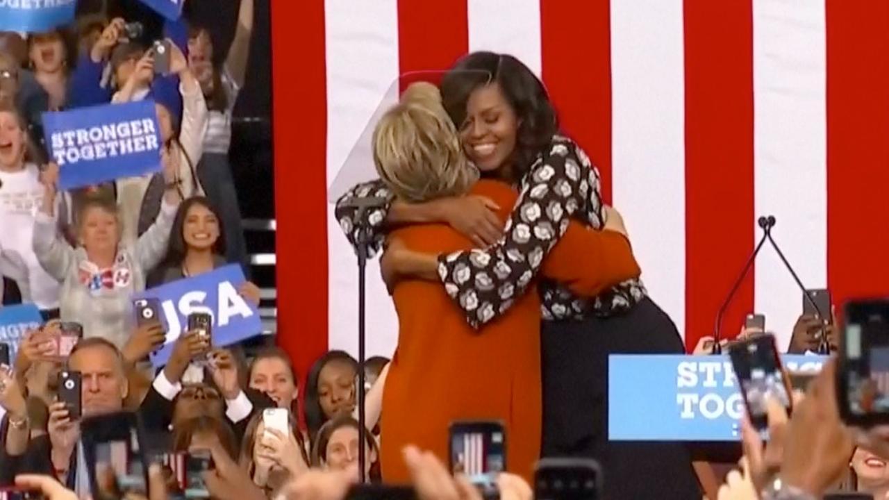 Michelle Obama voert campagne met Hillary Clinton