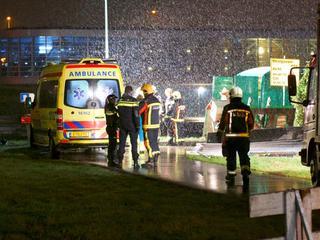 De politie doet onderzoek naar het incident