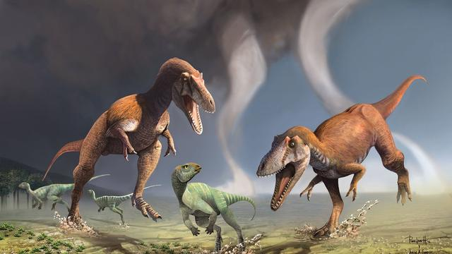 Nieuwe dinosaurus met kleine armpjes ontdekt