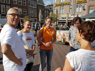 Topsportdemonstraties in centrum van Leiden