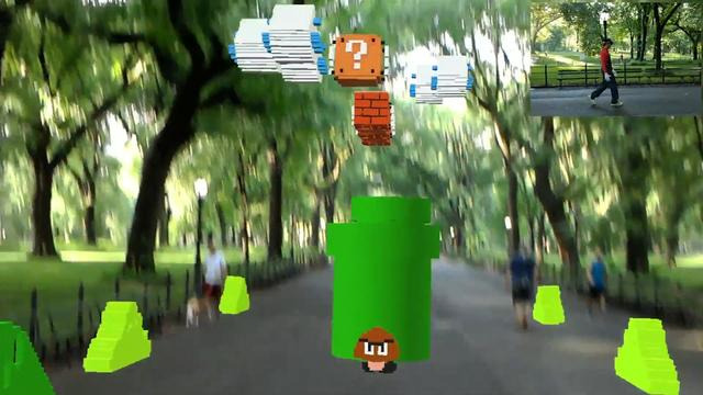 Fan maakt Super Mario level in augmented reality