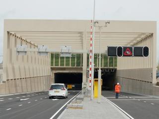 Stuk beton lag voor tunnel