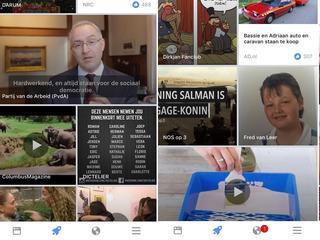 Nieuwe pagina toont berichten van pagina's die gebruiker niet volgt