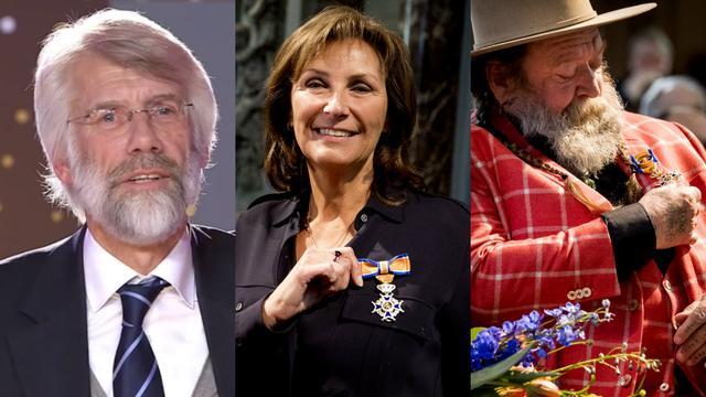 Drie bekende Nederlanders die een lintje hebben gekregen