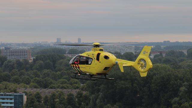 Traumahelikopter geland voor ongeval bij Arena