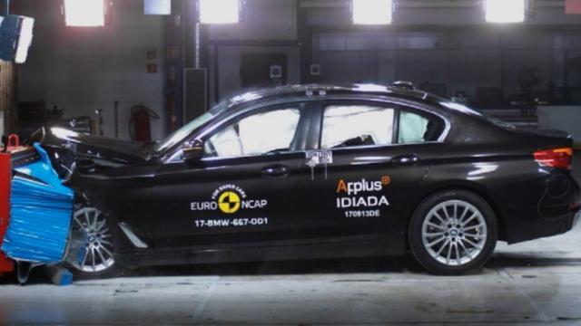 Crashtestvideo: vijf sterren botsveiligheid voor de nieuwe BMW 5-Serie