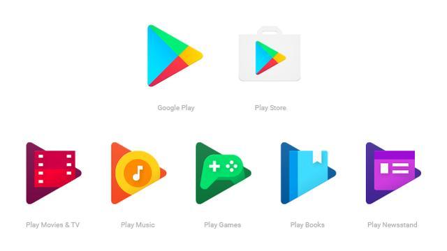 Google maakt ontwerp icoontjes Play-apps uniform