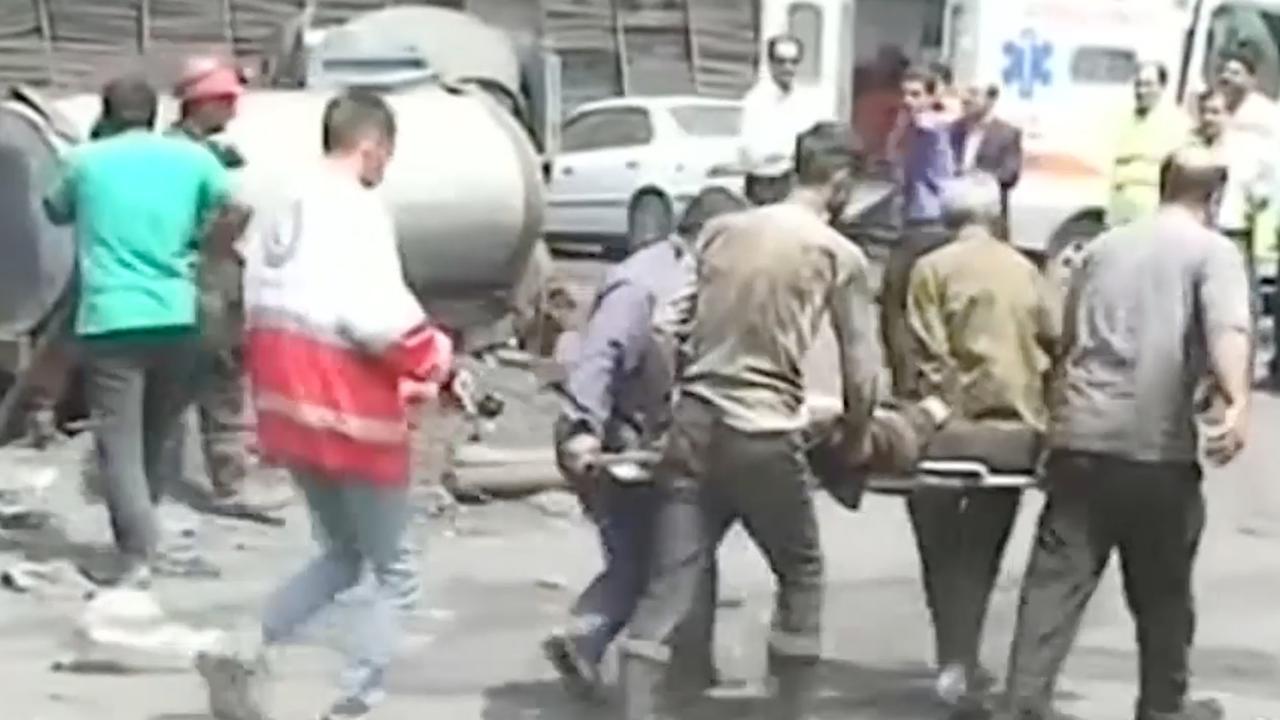 Hulpdiensten behandelen gewonden na grote mijnexplosie Iran