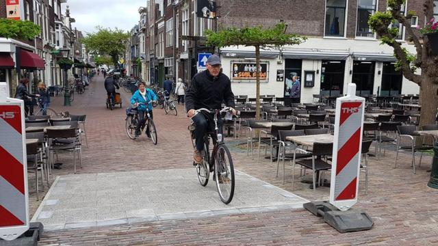 Tijdelijke aanpassing plateau bij Morspoort Leiden
