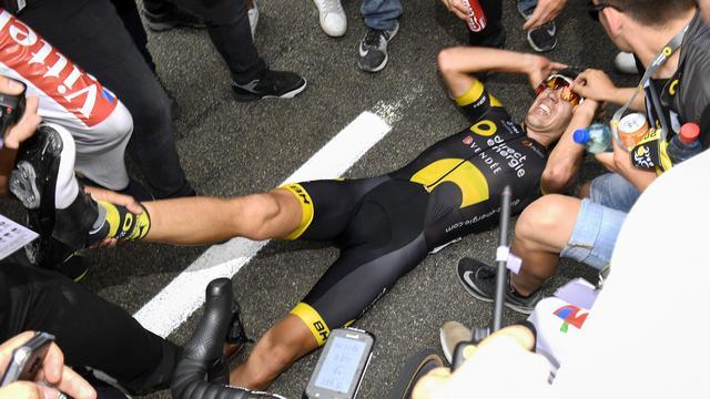 Calmejane blij dat hij ondanks kramp Gesink voorbleef in achtste rit