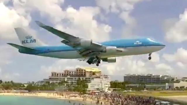 Boeing 747 van KLM landt voor het laatst op Sint Maarten