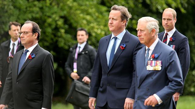 Hollande en Cameron herdenken Slag aan de Somme