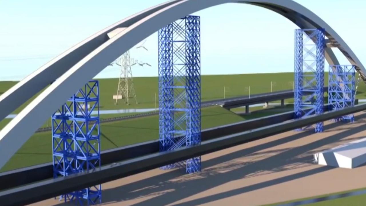 Spoorbrug Muiderberg klaar voor de oversteek