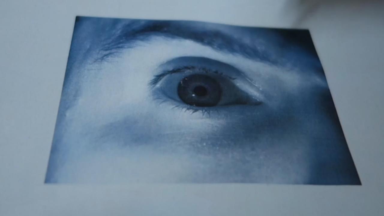 Uitgeprint oog fopt irisscanner Galaxy S8