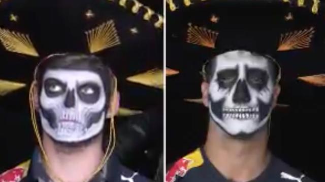 Verstappen en Ricciardo geschminkt voor Dag van de Doden