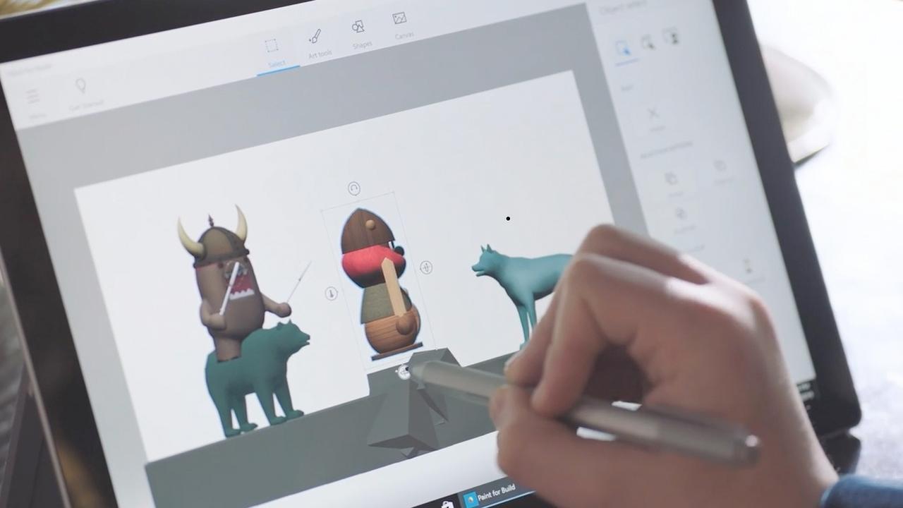 Paint 3D laat gebruikers in drie dimensies tekenen