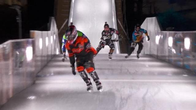 Cameron Naasz wint Red Bull Crashed Ice finale