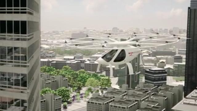 Dit is de zelfvliegende helikopter taxi van Volocopter