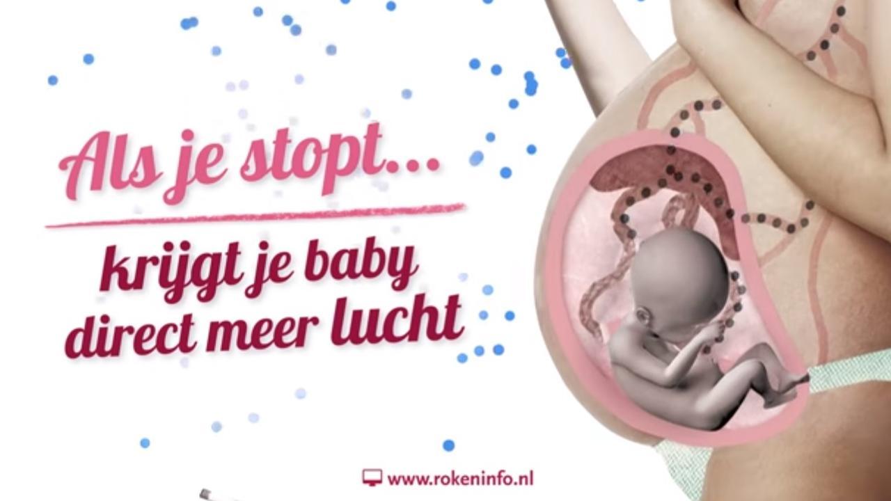 Overheid start campagne tegen roken tijdens zwangerschap