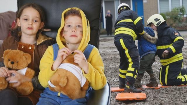 Jongen (7) gered uit drijfzand door brandweer