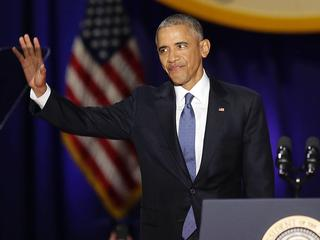 President sprak voor de laatste keer als leider van Amerika het volk toe