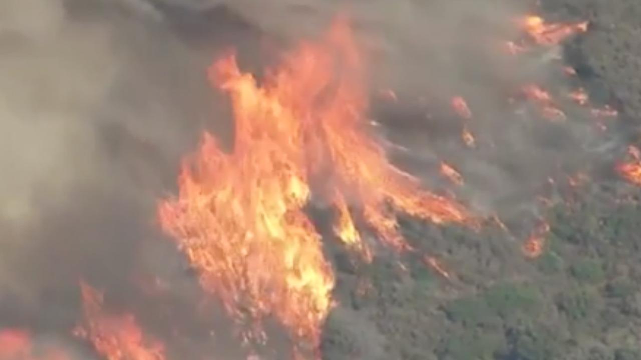 Branden Californië veroorzaakt door onbeheerd kampvuur