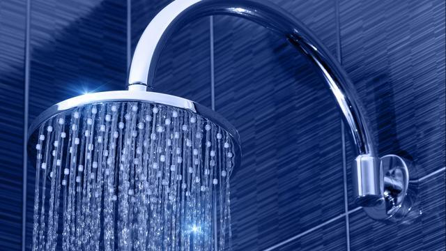 Slimme douchekop vermeldt waterverbruik