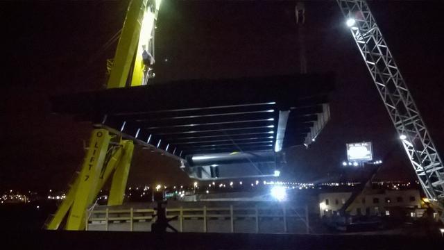 Plaatsing nieuwe brug bij Waddinxveen succesvol