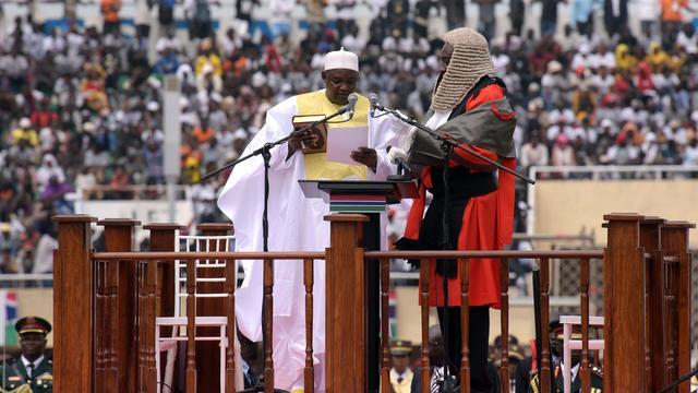 25.000 mensen bij inhuldiging president Gambia