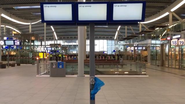 Treinverkeer Utrecht CS enige tijd stilgelegd na vondst tas