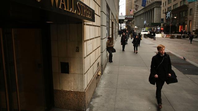 Rode koersborden op Wall Street