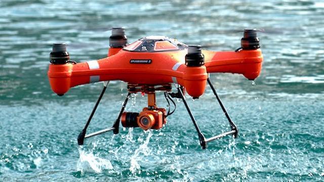 Splash Drone 3 helpt bij het vissen