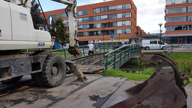 Bruggetje Europapark buiten gebruik door onderhoud