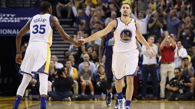 Thompson goed voor 60 punten namens Golden State Warriors in NBA