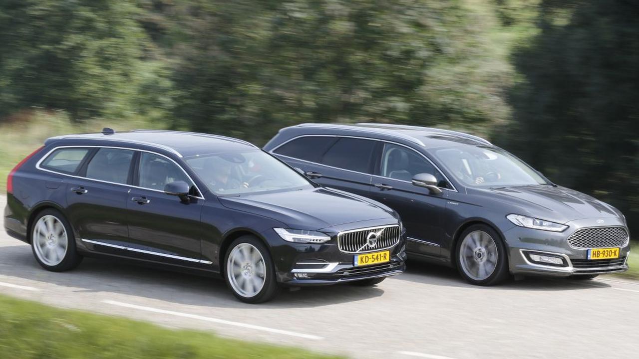 Dubbeltest: Volvo V90 vs. Ford Mondeo Vignale Wagon