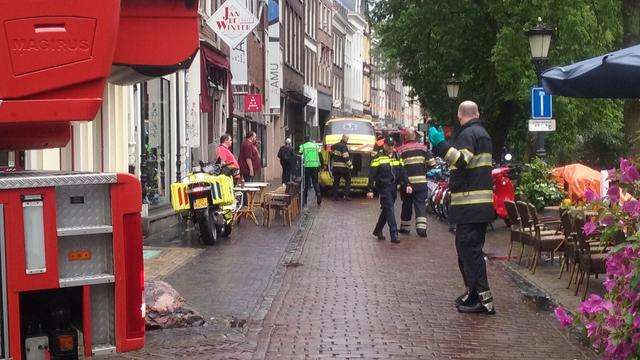 Politie haalt man uit Oudegracht