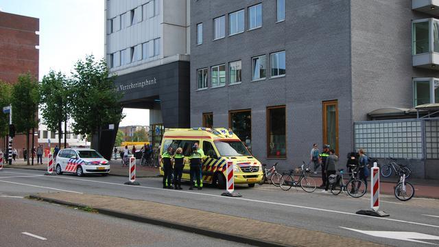Botsende fietsers op Schuttersveld