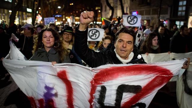 Slowaken protesteren tegen winst extreemrechtse partij