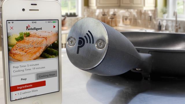 'Intelligente pan' geeft kookinstructies via app