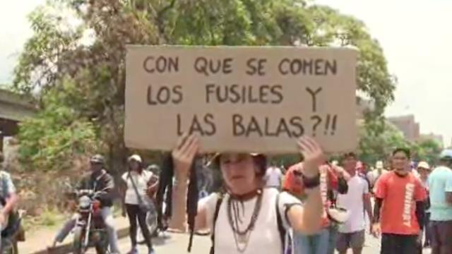 Vreedzame protestmars in Venezuela