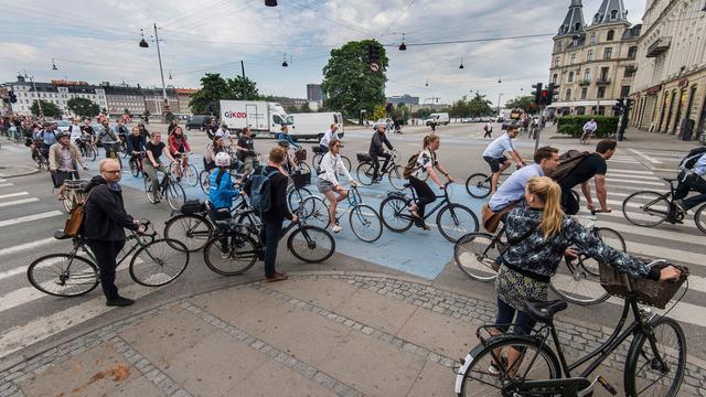 Kopenhagen meer een fietsstad dan Utrecht