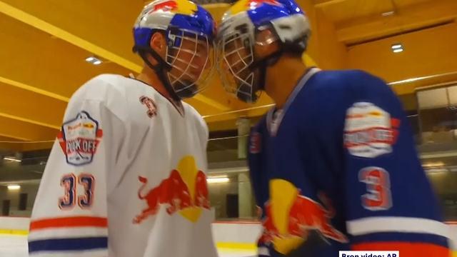 Verstappen en Ricciardo spelen potje ijshockey in Oostenrijk