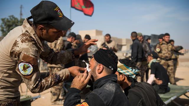 Konvooi met hulpmiddelen bereikt Mosul