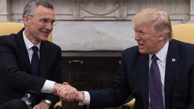 Trump spreekt steun uit voor NAVO na eerdere negatieve uitlatingen