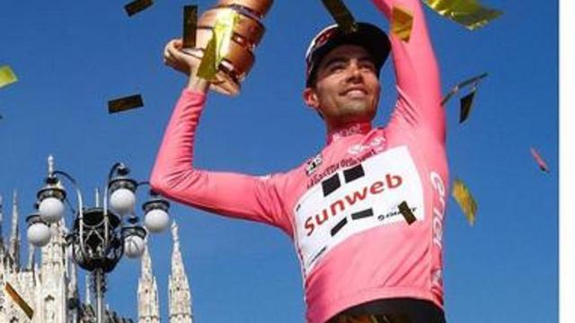 Kranten in het roze voor wielrenner Tom Dumoulin